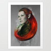 Head Of Elven Art Print