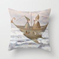 A Mystical Voyage Throw Pillow