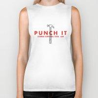 Punch It - Zombie Surviv… Biker Tank