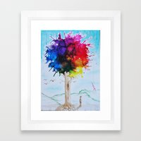 Tree Of Colour Framed Art Print