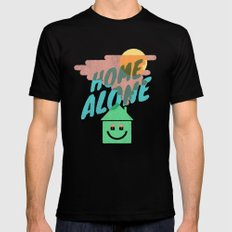Home Alone SMALL Mens Fitted Tee Black