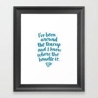 i've been around the teacup (blue) Framed Art Print