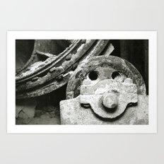 Mining Art Print