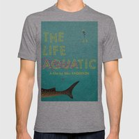 The Life Aquatic Mens Fitted Tee Athletic Grey SMALL