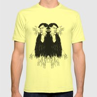Mirroring Mens Fitted Tee Lemon SMALL