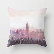 New York Magic Throw Pillow