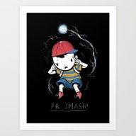 Art Print featuring Pk Smash by Louis Roskosch