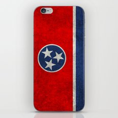 Tennessee State flag, Vintage version iPhone & iPod Skin
