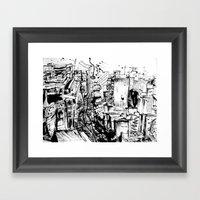 Ink City Framed Art Print