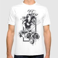 Hot Rot Mens Fitted Tee White SMALL