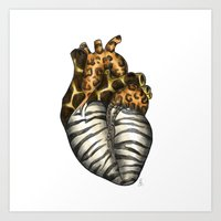 Heart gone wild - color  Art Print