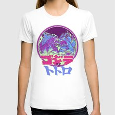 KING KAIJU VS. FOREST SPIRIT Womens Fitted Tee White SMALL