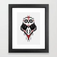 American Indian owl Framed Art Print