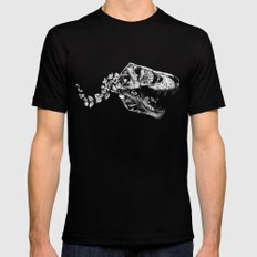 Jurassic Bloom - The Rex.  Mens Fitted Tee Black SMALL