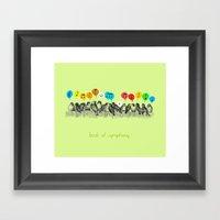 Birds Of Symphony Framed Art Print