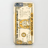 iPhone Cases featuring The sunshiny republic moolah by Budi Kwan