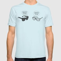 Visual Perspective Mens Fitted Tee Light Blue SMALL