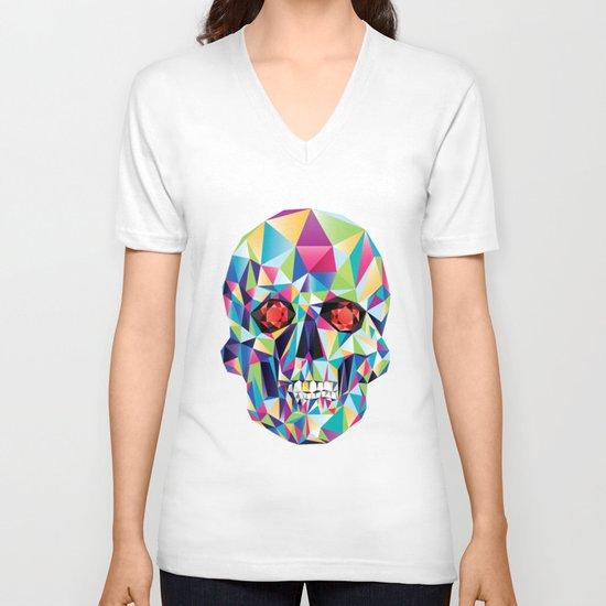 Geometric Candy Skull V-neck T-shirt