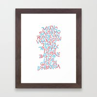 Five Monuments of Cycling Framed Art Print