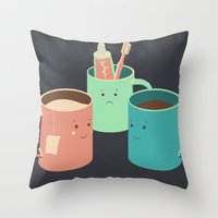 Mugs Throw Pillow