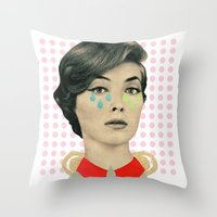 for your information there's an inflammation in my tear gland Throw Pillow