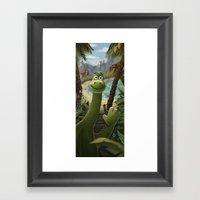 Tropical Dinosaur Framed Art Print
