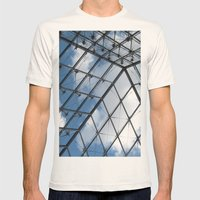 Through The Pyramid Mens Fitted Tee Natural SMALL