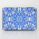 Cobalt Blue & China White Folk Art Pattern iPad Case