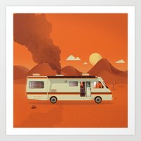 Breaking Van Art Print