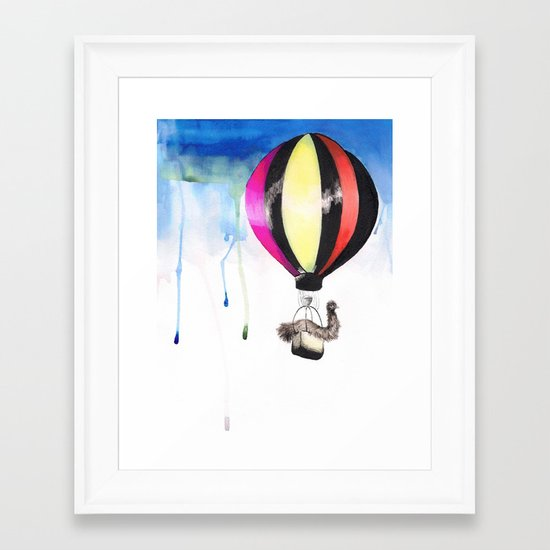 Air Emu Framed Art Print