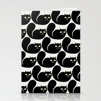 Black CATS Stationery Cards