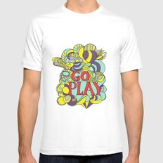 Go play Mens Fitted Tee White SMALL