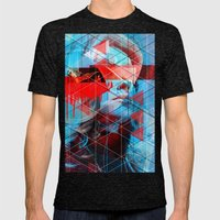 Push The Night Mens Fitted Tee Tri-Black SMALL
