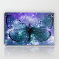 Celestial Butterfly Purple Teal Laptop & iPad Skin