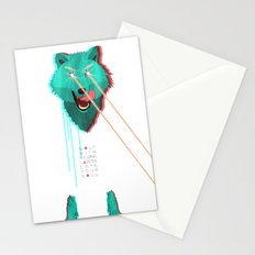 Wolf With F**king lasers Stationery Cards