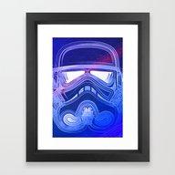 Framed Art Print featuring Pop Trooper by Scar Design
