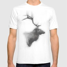 Mystic Elk Mens Fitted Tee White SMALL
