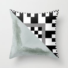 waves/grid #4 Throw Pillow