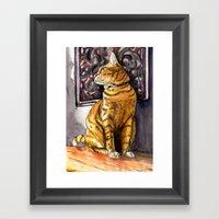 Cat Charlie Framed Art Print