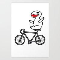 WIT bike riding Art Print