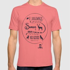 I Solemnly Swear... Mens Fitted Tee Pomegranate SMALL