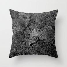 Atlanta map Georgia Throw Pillow