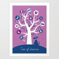 Tree of dreams Art Print