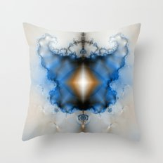 Dream Catcher Blue And W… Throw Pillow