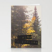 I Wish To Explore Stationery Cards