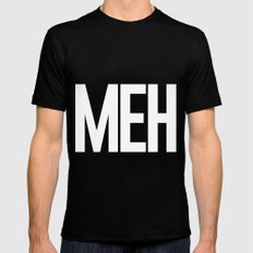 MEH - White Letters SMALL Black Mens Fitted Tee