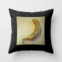 Corny Banana Throw Pillow