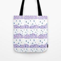 Raindrops keep falling... Tote Bag