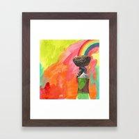 carrying Framed Art Print