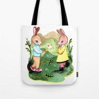 Happy Birthday Little Rabbit Tote Bag